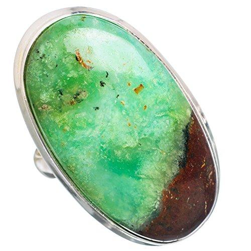 Ana Silver Co Huge Boulder Chrysoprase 925 Sterling Silver Ring Size 9