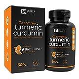 Sports Research Turmeric Curcumin C3 Complex 500 Mg with 95% Curcuminoids,Bioperine and Organic Virgin Coconut Oil. 120 Capsules