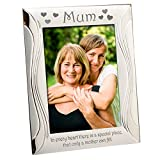 Mum, Mother, Photo Frame, Silver Plated, Silver, Engraved with