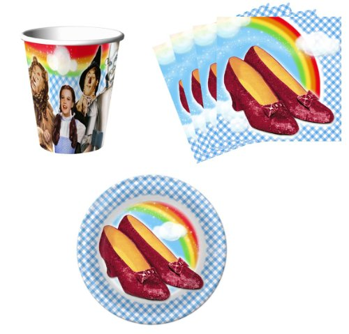 The Wizard Of Oz Birthday Party Supplies Set Plates Napkins Cups Kit For 16 front-1025424