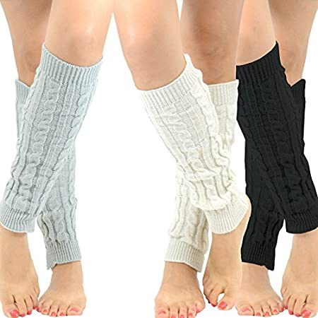Women's Fashion Cable knit with Rib Leg Warmers MANUFACTURE DIRECT SALE Fashion DesignerÕs Legwear. Sock Size : WomenÕs One Size Fits All Available Colors : Bone, Grey, Black Quantity : 1 pair Produced in : China Contents : Acrylic Blend
