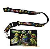 Ninja Turtles Black Lanyard With Coin Purse