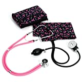 Prestige Medical A2-prb Sprague / Sphygmomanometer Kit with Carrying Case Pink Ribbon Black