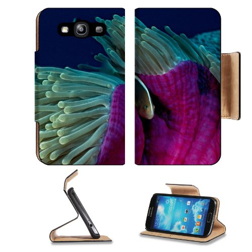 Animal Fish Anemone Ocean Wildlife Sea Coral Reef Night Samsung Galaxy S3 I9300 Flip Cover Case With Card Holder Customized Made To Order Support Ready Premium Deluxe Pu Leather 5 Inch (132Mm) X 2 11/16 Inch (68Mm) X 9/16 Inch (14Mm) Luxlady S Iii S 3 Pro front-567410