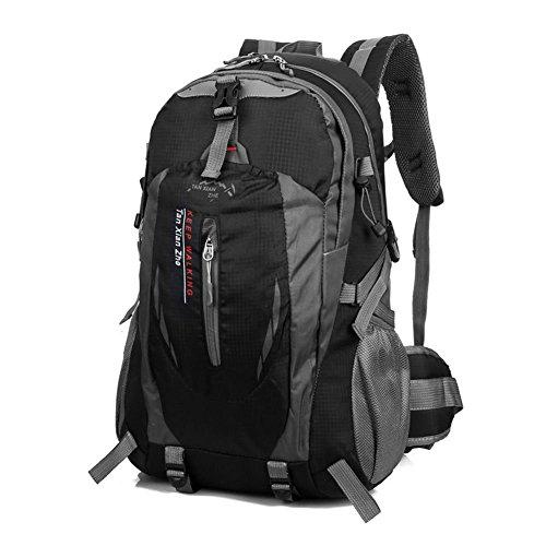 40L-Mochila-Bolsa-de-Deporte-Escalada-Acampada-Al-Aire-Libre-Impermeable-Nylon-Negro