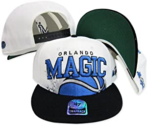 Orlando Magic Two Tone Big Logo Plastic Snapback Adjustable Plastic Snap Back Hat Cap by Twins