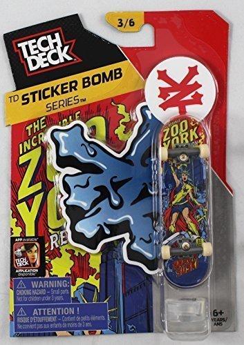 1 2014 TECH DECK 96mm FINGERBOARD - ZOO YORK BOARD (Sticker Bomb Series 3/6) (Zoo York Skateboard Stickers compare prices)