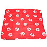 EXCITED PROMOTION Cute Handcrafted Cozy Warm Paw Print Pet Dog Cat Fleece Blanket Mats