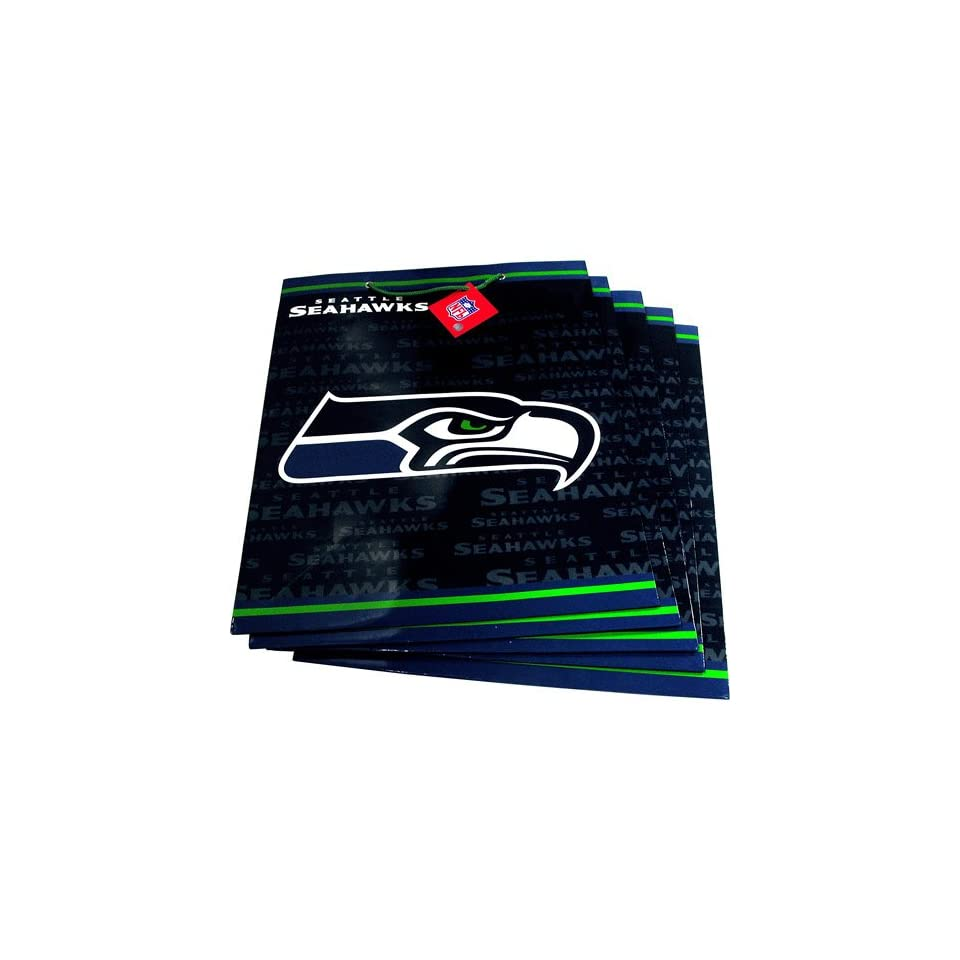 Pro Specialties Seattle Seahawks Team Logo Large Size Gift Bag (5 Pack