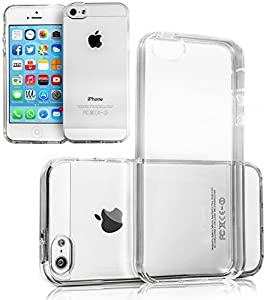 Movoja iPhone 5 5S TPU Hülle Schutzhülle Crystal Case Durchsichtig Klar Silikon transparent