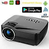 Android-Smart-WiFi-Projector-Deeplee-GP70UP-Wireless-Mini-LED-Video-Projector-Support-Smartphone-LaptopPC-PS4-Xbox-TV-Box-DVD-VGA-USB-SD-AV-HDMI-Miracast-Airplay-for-Movie-Video-Game-Party-Night