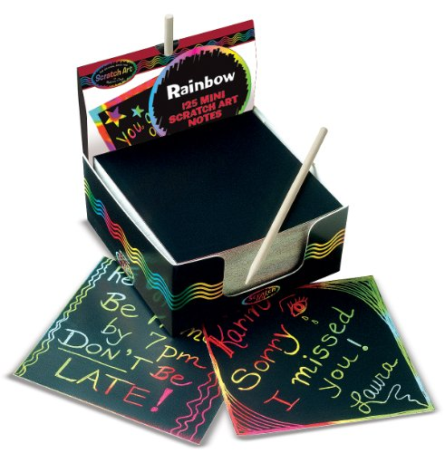 Melissa & Doug Rainbow Mini Scratch Art Notes (Box of 125)