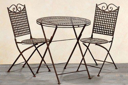 Garten-Set-Landhaus-ein-Tisch-und-zwei-Sthle-aus-Metall