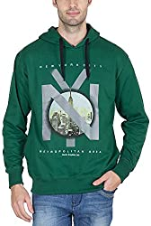 Priknit Men's Cotton Sweatshirt (IH-SS2-40 GREEN N/Y, Green N/Y, 40)