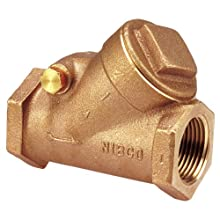 "NIBCO NL7K004 Cast Bronze Check Valve, Silent Check, Class 150, PTFE Seat, 1/4"" Female NPT Thread (FIPT)"