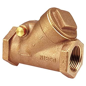 "NIBCO T-433-Y Cast Bronze Check Valve, Silent Check, Class 150, PTFE Seat, 1/4"" Female NPT Thread (FIPT)"