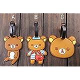 Kawaii Lovely Rilakkuma PVC Luggage/ Bag Tag/ Travel Name Tag: B