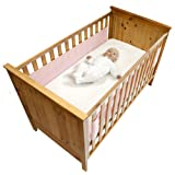 Safe Dreams 2 Sided Cot Wrap with 100% cotton surface (Pink)