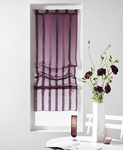 douceur-dinterieur-malta-voile-sable-raye-store-forme-droite-polyester-prune-45-x-180-cm