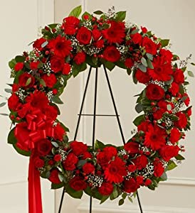 1-800-Flowers - Serene Blessings Standing Wreath - Red By 1800Flowers