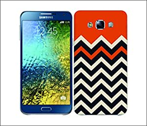 Galaxy Printed 1517 Block Chevron Orange Hard Cover for Samsung CORE PLUS