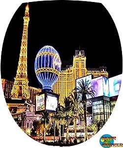 Sticker Autocollant Abattant WC Tour Eiffel 26x34cm réf 075