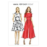 Vogue Patterns V9075E5 14/16/18/20/22 Misses/Misses Petite Dress and Jumpsuit