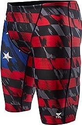Men\'s TYR USA Valor Jammer Swimsuit, Red/White/Blue, 34 -Inch