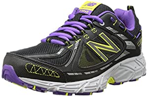 New Balance Women's WT510V2 Trail Shoe, Black/Purple, 11 B US