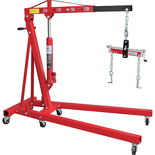 Great Features Of Strongway Hydraulic Engine Hoist with Load Leveler - 2-Ton Capacity, 1in.-82 5/8in...