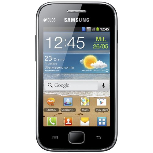 Samsung Galaxy Ace Duos S6802 – Factory Unlocked, Dual SIM, Android Smartphone – International Version, No Warranty (Black)