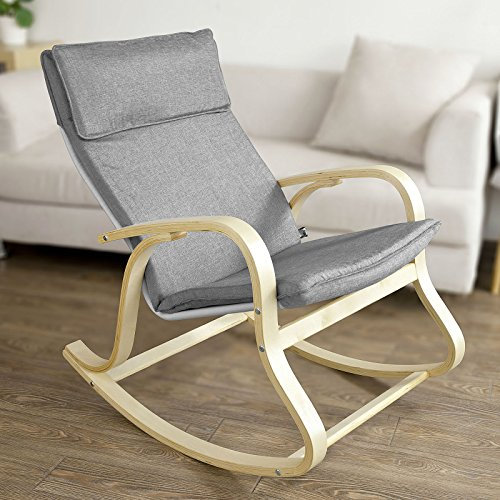 SoBuy Comfortable Relax Rocking Chair, Gliders, Lounge Chair with ...