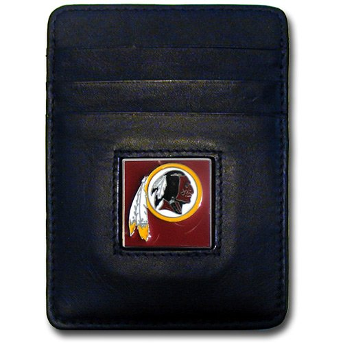 credit card holder money clip. logo Washington