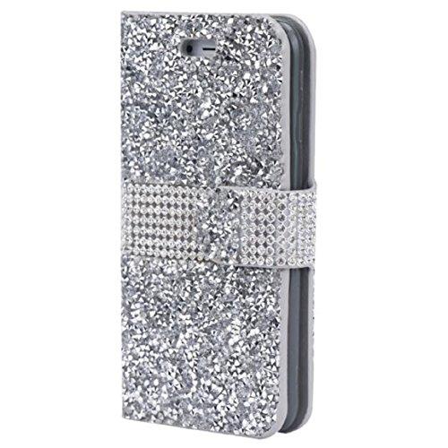 Malloom® Coque Pour iphone 6/6s - Diamant Flip étui En Cuir De Luxe Couvercle