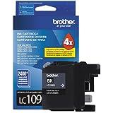 Brother LC109BK, LC109BK, Super High-Yield Ink, 2400 Page, Black (BRTLC109BK)