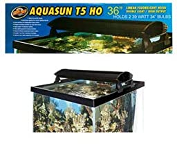 Zoo Med AquaSun T5-HO Double Light Linear Fluorescent Hood, 36-Inch