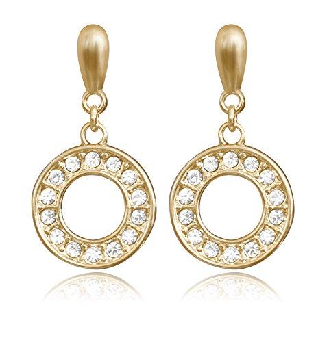 """'""""orecchini Saturno Gold orecchini incrostate di cristalli Swarovski di La Casa"""
