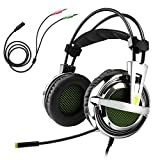 Gaming Headset, Sades SA-928 Stereo Lightweight PC Gaming Headphones 3.5mm Jack With Mic For Laptop PC/MAC With...