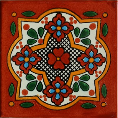6x6 4 pcs Tepupa Talavera Mexican Tile