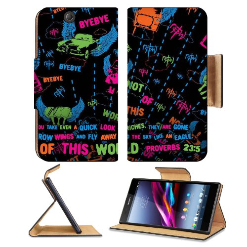 Not Of This World Proverb 23:5 Sony Xperia Z Ultra Flip Case Stand Magnetic Cover Open Ports Customized Made To Order Support Ready Premium Deluxe Pu Leather 7 1/4 Inch (185Mm) X 3 15/16 Inch (100Mm) X 9/16 Inch (14Mm) Msd Sony Xperia Z Ultra Cover Profes