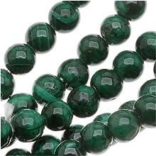 Malachite 4mm Round Beads 155 Inch Strand Green Stone