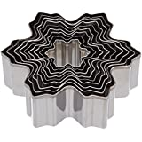 Kitchen Craft Let It Snow Stainless Steel Christmas Tree Cookie Cutter Set