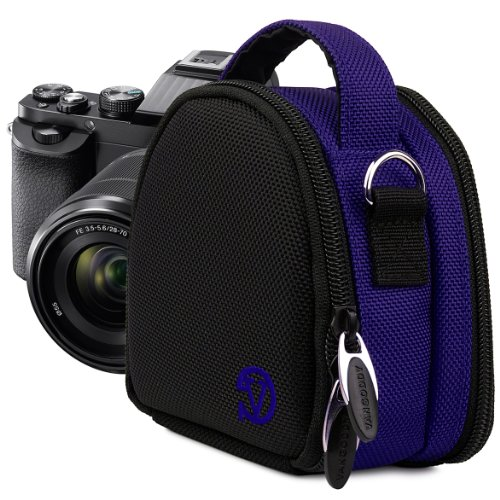 VanGoddy Compact Mini Laurel NAVY BLUE Camera Pouch Cover Bag fits Canon PowerShot G7 X, N100, N Facebook, SX600, SX260, S120, S110 HS (Sx600 Hs Bundle compare prices)