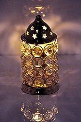 Rastogi Handicrafts Brass Akhand Diya Diamond Crystal Deepak Dia Akhand Jyot , Magical Lantern Brass Diya Brass oil Lamp , Brass diyas puja lamp