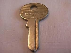 master padlock keys cole nickel plated single sided 4 pin key blanks m1 door lock. Black Bedroom Furniture Sets. Home Design Ideas