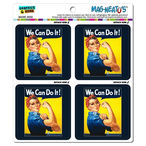 Graphics and More Rosie The Riveter We Can Do it Mag-Neato's Automotive Car Refrigerator Locker Vinyl Magnet Set (Can Magnet compare prices)