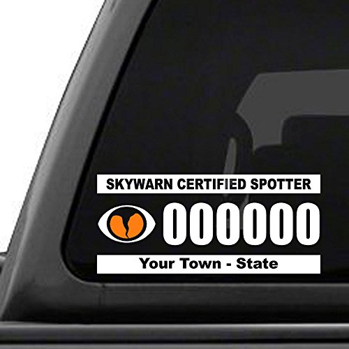 Custom Amateur Ham Radio - SkyWarn Storm Chaser Call Sign (Ham Radio Decal compare prices)