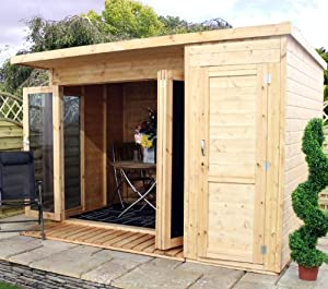 Combi garden rooms with side shed patio for Combi garden room