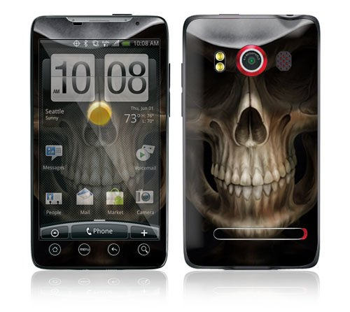 DecalSkin HTC Evo 4G Skin – Skull Dark Lord