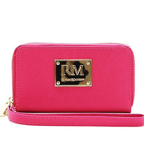 robert-matthew-sadie-24k-gold-leather-wallet-wristlet-pink-ruby
